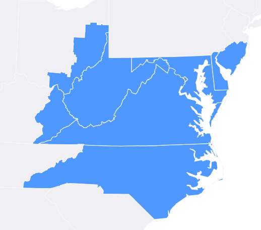 Curtis Power Solutions Coverage Map